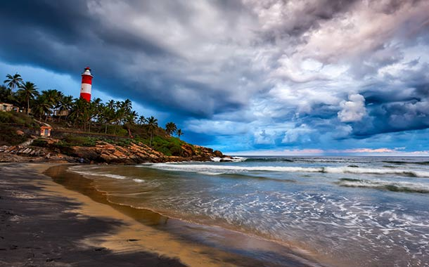 Sceneric View of Kovalam City
