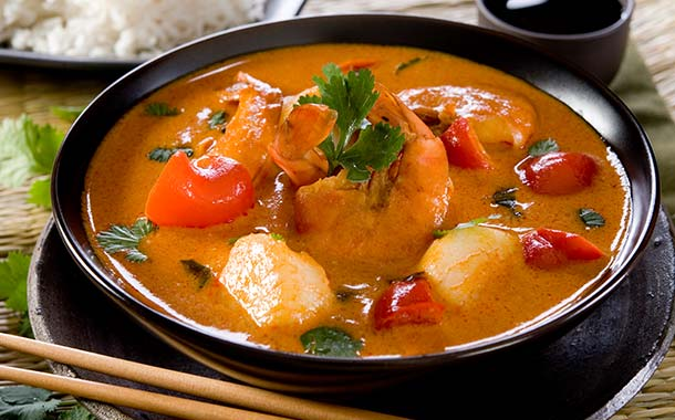 Aromatic Red Thai Seafood Curry - Bangkok Holidays