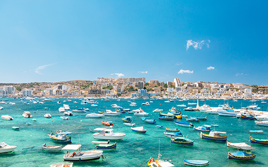 Malta Tour Itinerary - Yachts in the Ocean